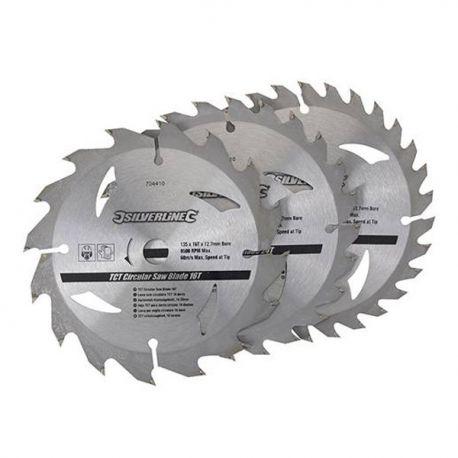 3 Lames de scie circulaire 135x12,7 mm