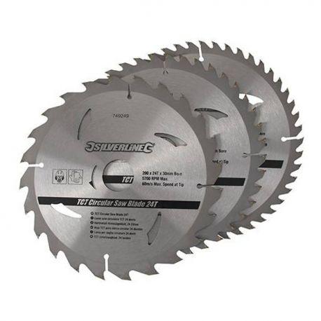 3 Lames de scie circulaire 210x30 mm