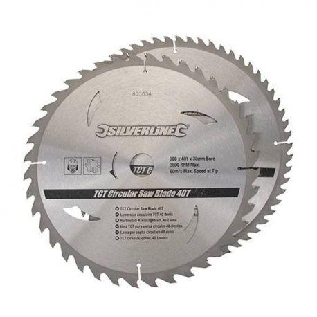 2 Lames de scie circulaire 300x30 mm