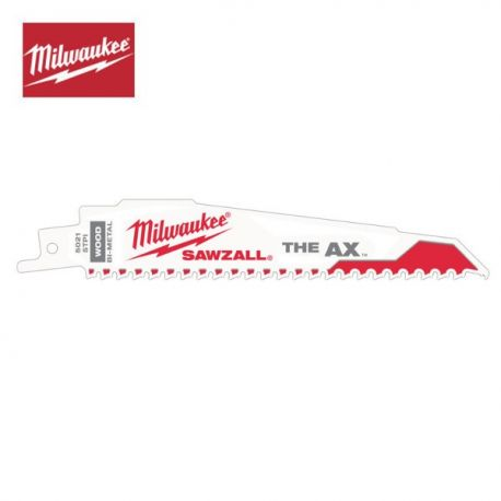 5 Lames de scie sabre 230 mm bois métal The Ax Milwaukee