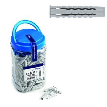 Seau 500 chevilles quadruple expansion pour matériaux creux et pleins diamètre 8 mm