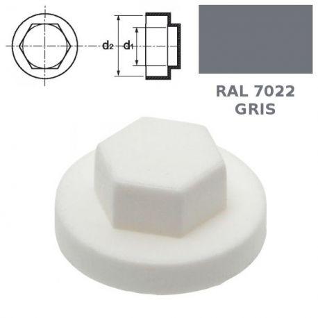 Capuchons RAL 7022 gris anthracite pour vis autoperceuses TH diamètre 6,3mm par 250