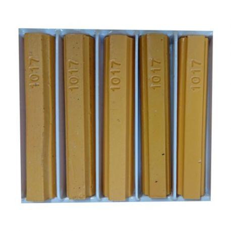 5 bâtons de cire malléable 8 cm jaune safran RAL 1017