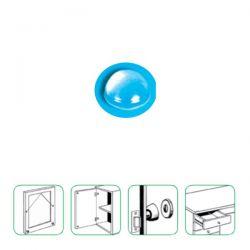 Butoir transparent auto-adhésif diamètre 16 x 8 mm