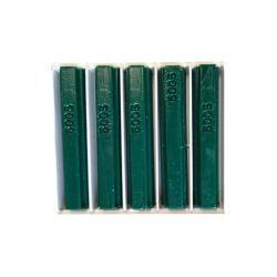 5 bâtons de cire malléable 8 cm vert mousse RAL 6005 Konig
