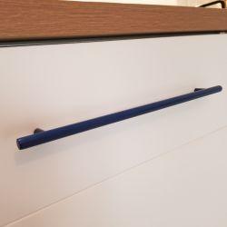 Poignée de cuisine bleu saphir entraxe 320 mm longueur 385 mm Inox AISI 304