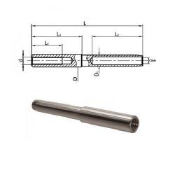 Embout à sertir taraudé pas à droite diamètre 7.2 mm petit modèle - Inox A4