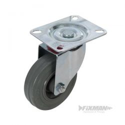 Roulette pivotante caoutchouc 100 mm 70 kg