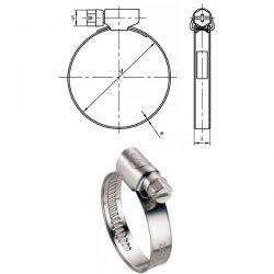 Colliers à bande Inox A2 W4 5,10 mm plage de serrage 7 à 11 mm par 50