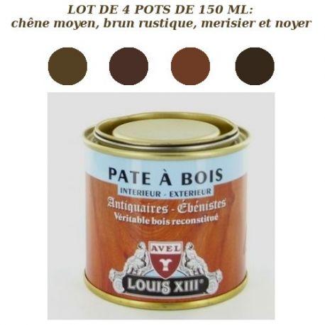 Lot de 4 pots de pâte à bois Louis 13 Avel