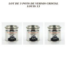 Lot de 3 pots de vernis Cristal Louis 13 Avel 125ml