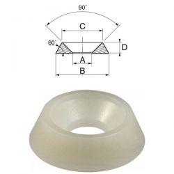 Rondelles cuvettes diamètre 4 mm nylon par 200