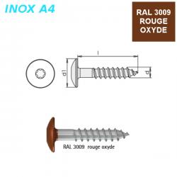 Vis RAL 3009 Rouge Oxyde 5,5x35 mm pour panneaux façade FPS par 500
