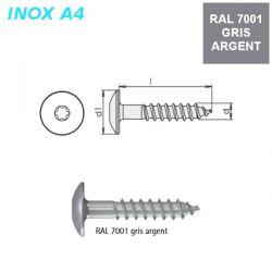 Vis RAL 7001 gris argent 5,5x35 mm pour panneaux façade FPS par 500