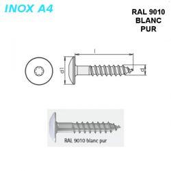 Vis RAL 9010 blanc pur 5,5X45 mm pour panneaux façade FPS par 500