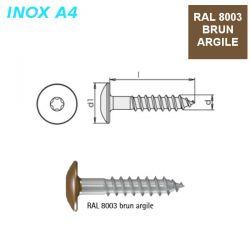 Vis RAL 8003 brun argile 5,5x45 mm pour panneaux façade FPS par 500