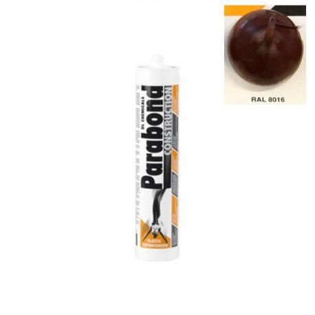 Mastic Colle Parabond Construction brun foncé RAL 8016