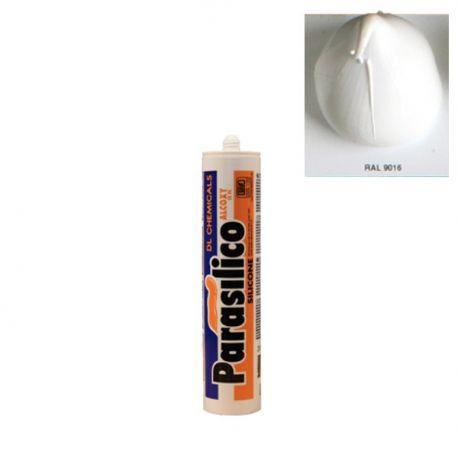 Mastic silicone RAL 9016 blanc Parasilico Alcoxy blanc perlé