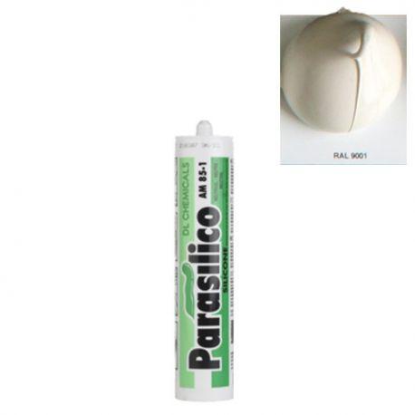 Mastic silicone RAL 9001 blanc Parasilico AM 85-1