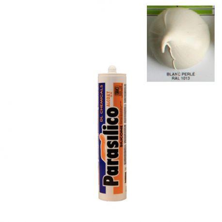Mastic silicone RAL 1013 blanc perlé PARASILICO ALCOXY 15 FC