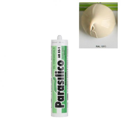 Mastic silicone RAL 1015 ivoire clair Parasilico AM 85-1