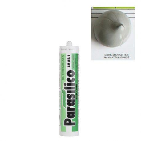 Mastic silicone Dark Manhattan foncé gris Parasilico AM 85-1