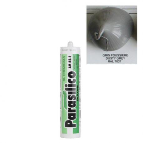 Mastic silicone RAL 7037 gris poussière Parasilico AM 85-1
