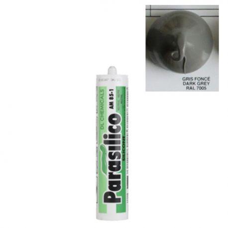 Mastic silicone RAL 7005 gris foncé Dark Grey Parasilico AM 85-1