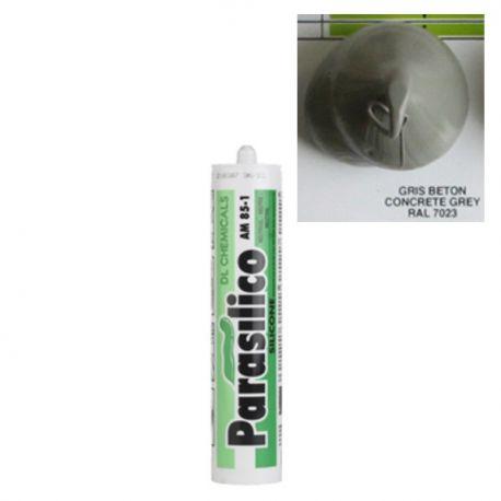 Mastic silicone RAL 7023 gris béton concrete grey Parasilico AM 85-1