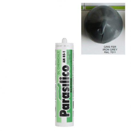 Mastic silicone RAL 7011 gris fer iron grey Parasilico AM 85-1