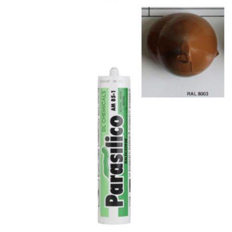 Mastic silicone RAL 8003 chêne doré Parasilico AM 85-1
