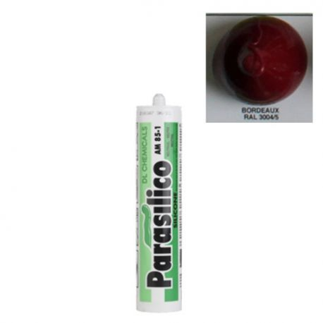 Mastic silicone RAL 3004 rouge pourpre Parasilico AM 85-1