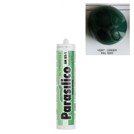 Mastic silicone RAL 6005 vert Parasilico AM 85-1