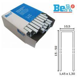 Agrafes type 14 longueur 15 mm largeur 10,5 mm par 24000 Inox