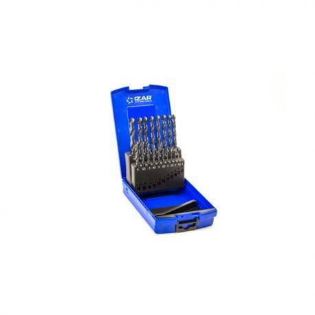 Coffret forets métaux 1-10 x 0.50 HSS DIN338 19 pièces
