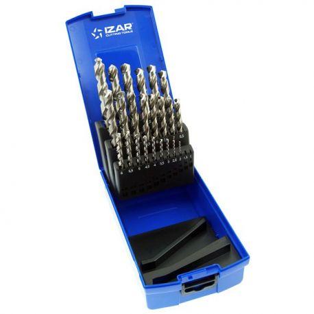 Coffret forets métaux 1 - 13 x 0.50 HSSE INOX DIN 338 25 pièces