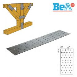 Plaques perforées 40x120x2 mm pour charpente par 400