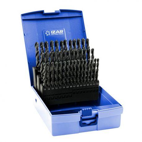 Coffret forets métaux 6-10 x 0.10 HSS DIN338N 41 pièces