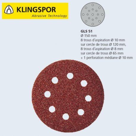 Disques auto-agrippants 150mm GLS51 pro par 50