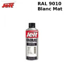 Peinture retouche RAL 9010 blanc MAT aérosol 520ml
