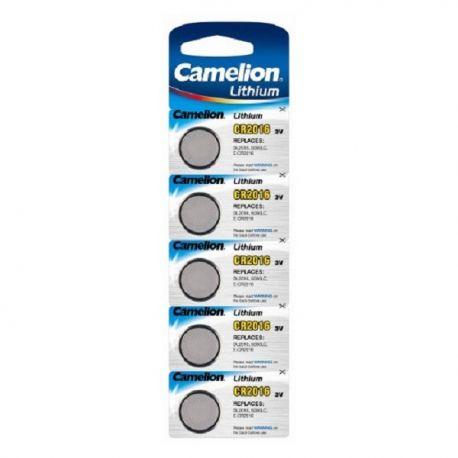 Blister 5 piles CR2016 3V Lithium