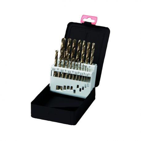 Coffret forets métaux Cobalt 19 pièces pro