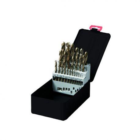 Coffret forets métaux Cobalt 25 pièces pro