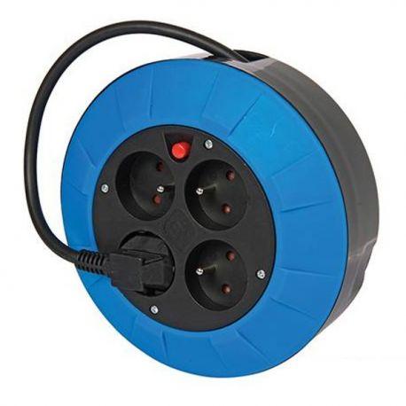 Enrouleur rallonge électrique 5m 4 prises