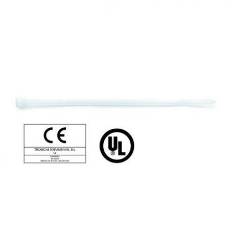 Colliers de serrage nylon blanc 4,8x250 par 100
