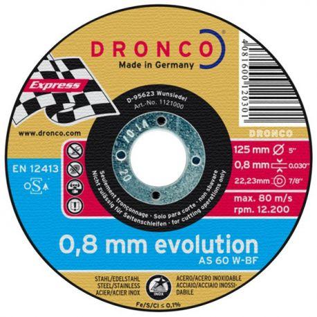 Disque à tronçonner 125x0,8 Dronco AS 60 W