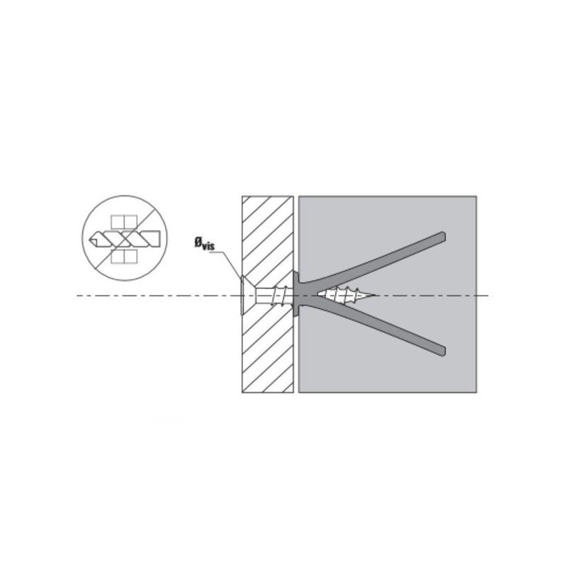 cheville frapper sp ciale b ton cellulaire square perffixe tools. Black Bedroom Furniture Sets. Home Design Ideas